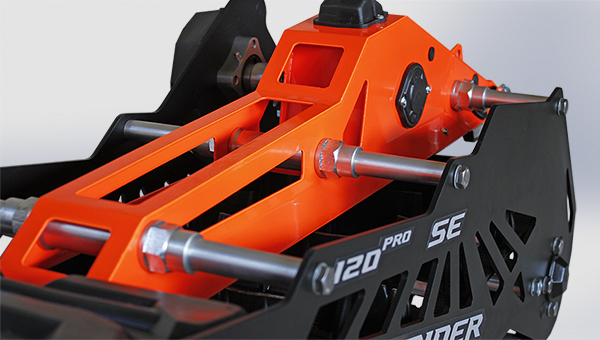 Chassis frame for snow bike Snowrider